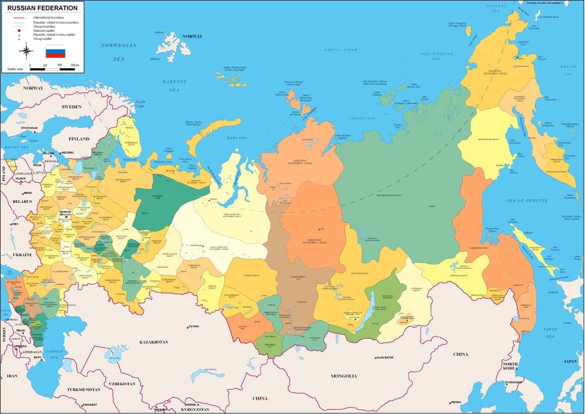 Mapa Politico De Rusia Actual.Mapa Fisico Rusia