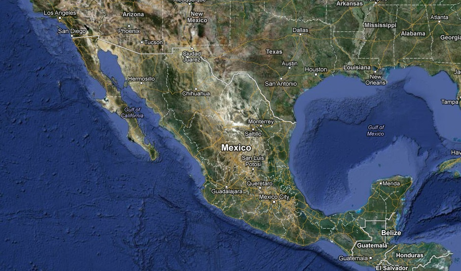 Mapa satelital america