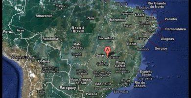 Mapa satelital brasil
