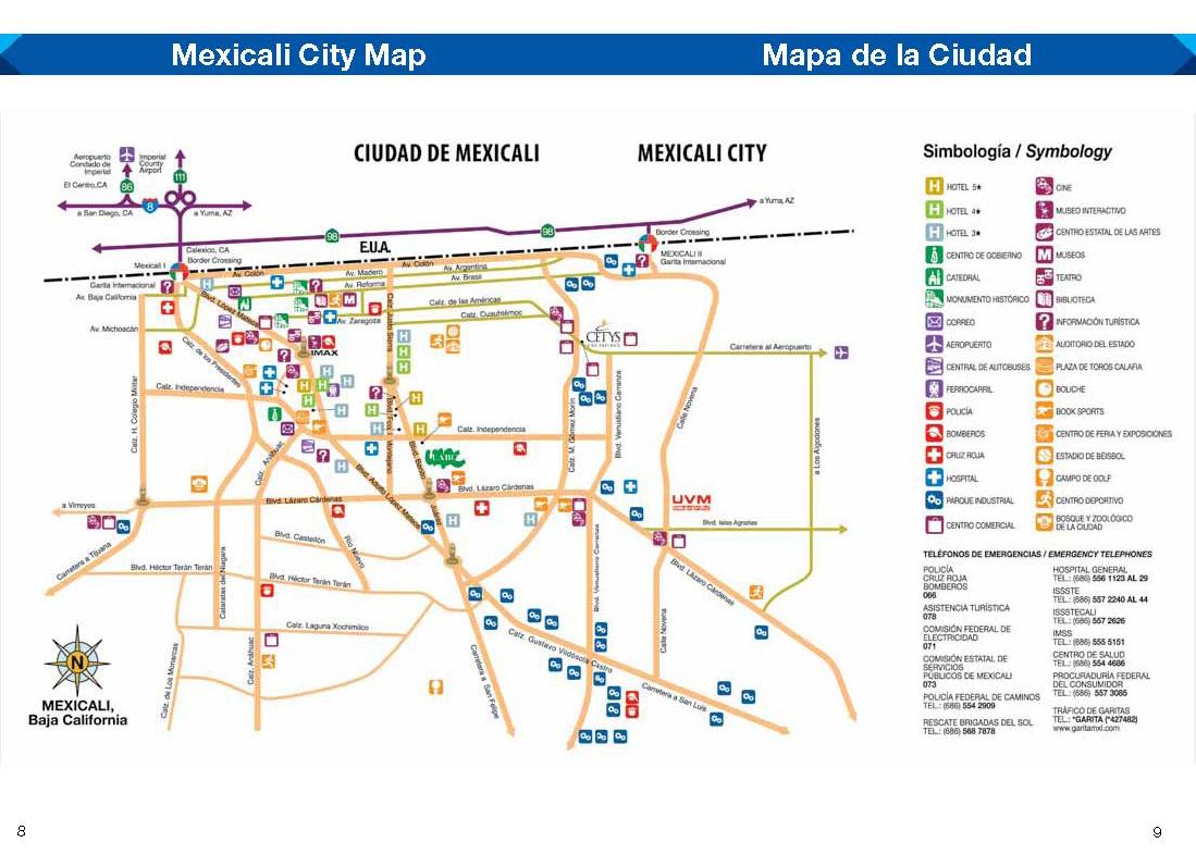 Mexicali mapa