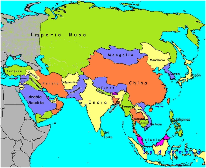 Ver el mapa de Asia