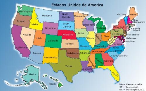 Ver el mapa de estados unidos