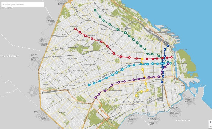 Mapa Subte Buenos Aires Del Subte de Buenos Aires