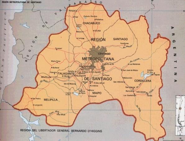 Descargar Mapa de santiago