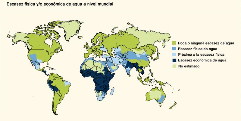 Ejemplos de mapa agua en el mundo