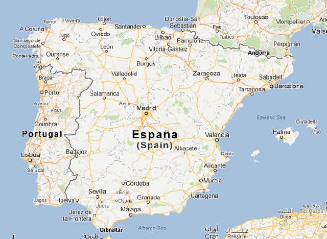 Madrid Capital De España Mapa.Ver El Mapa De Espana
