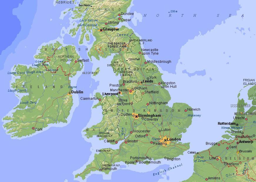 Mapa Inglaterra