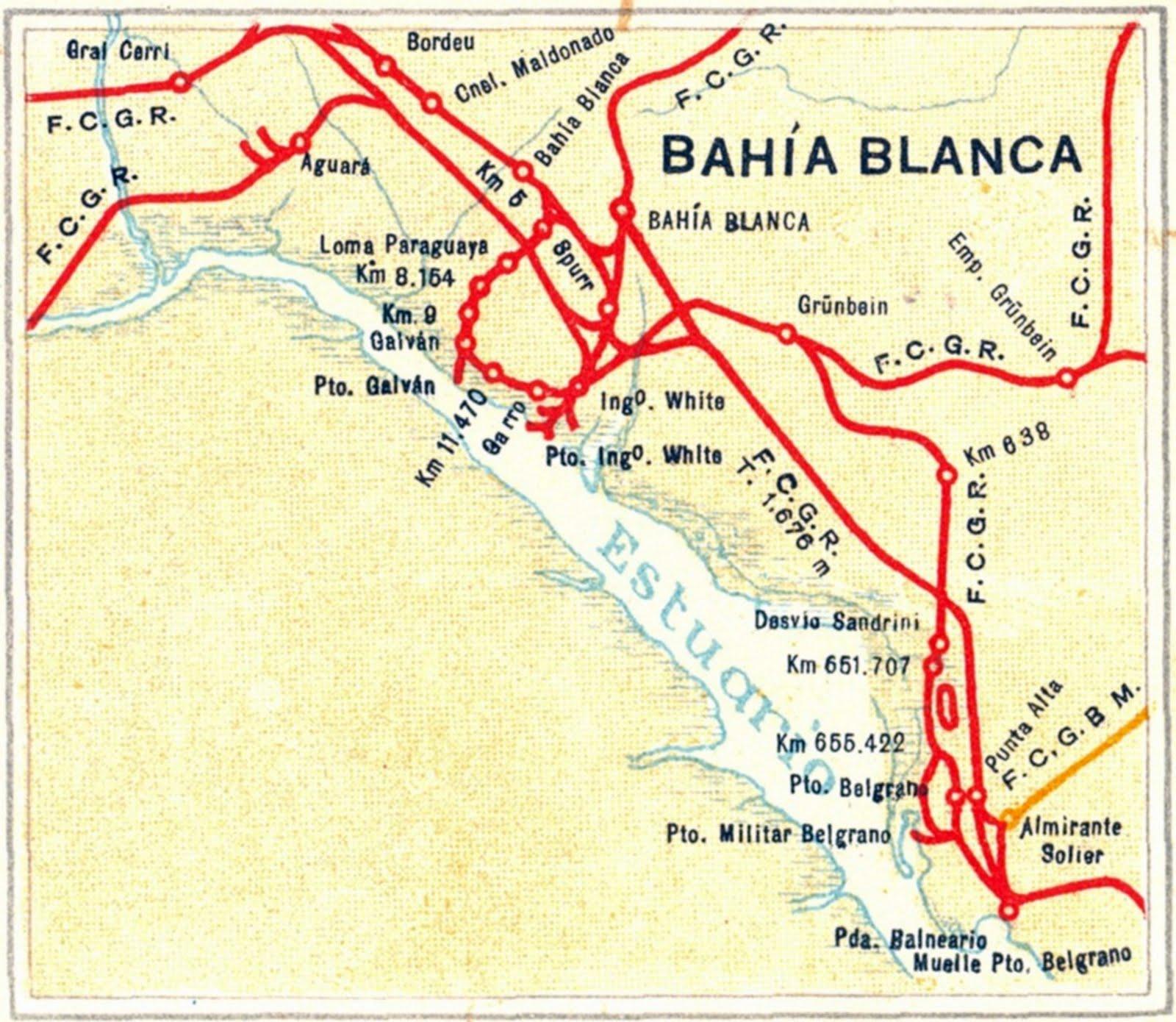 Mapa bahia blanca