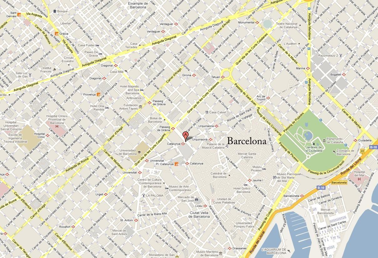 Mapa callejero barcelona