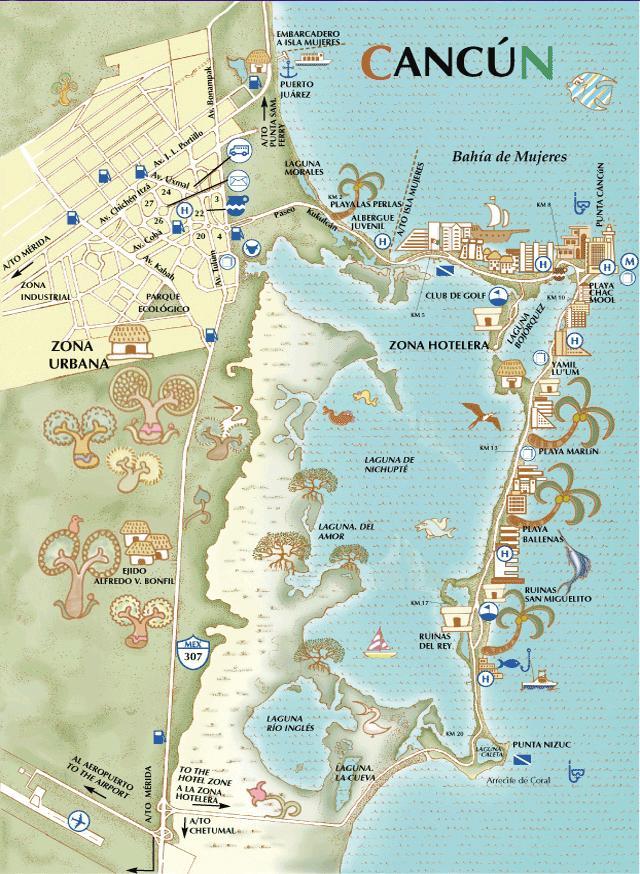 Mapa cancun gratis
