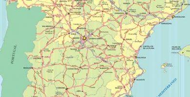Mapa carreteras España