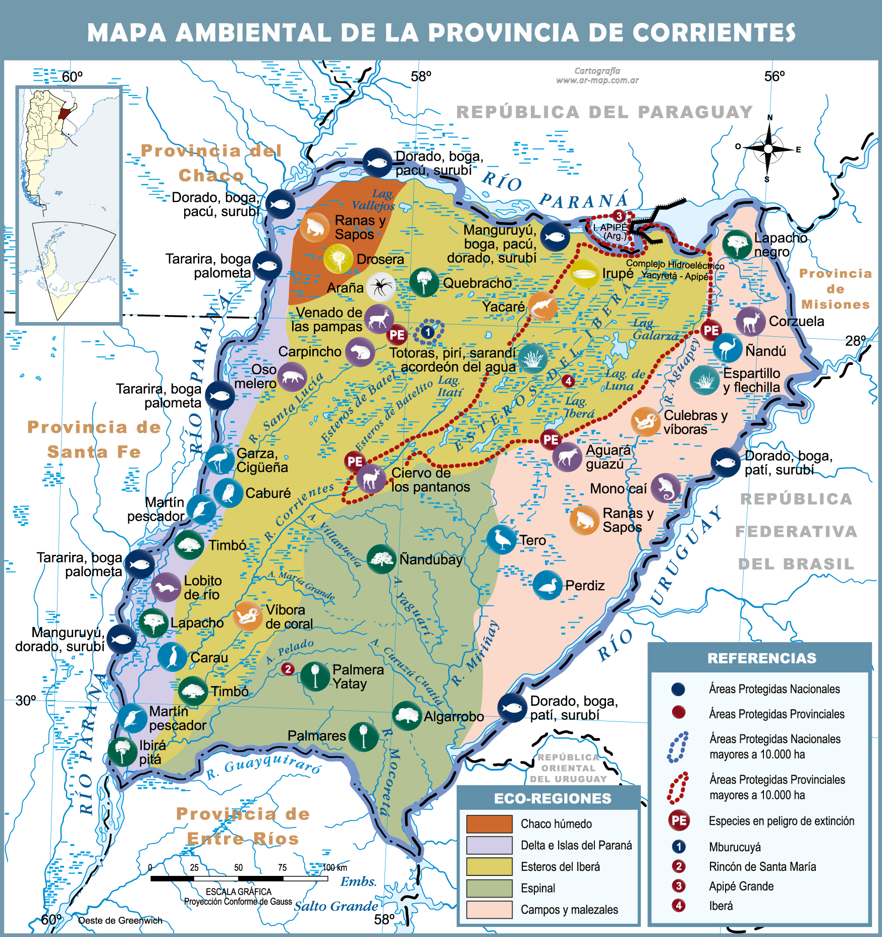 Mapa corrientes
