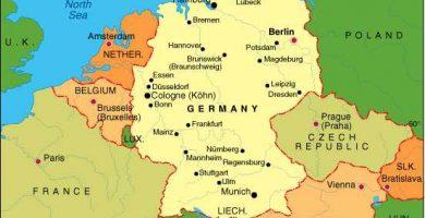 Mapa de Alemania gratis