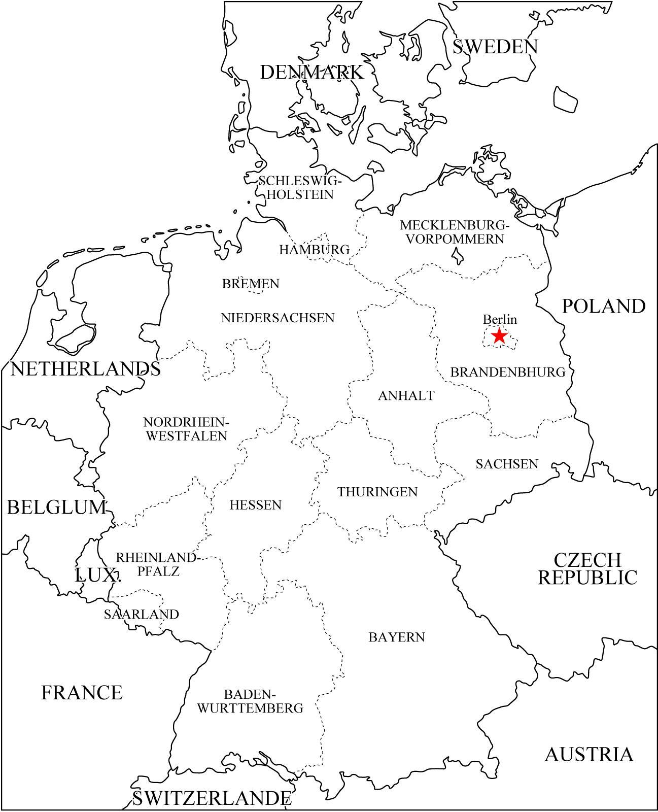 Mapa de Alemania ver