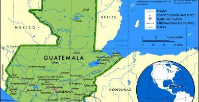 Mapa de Guatemala gratis