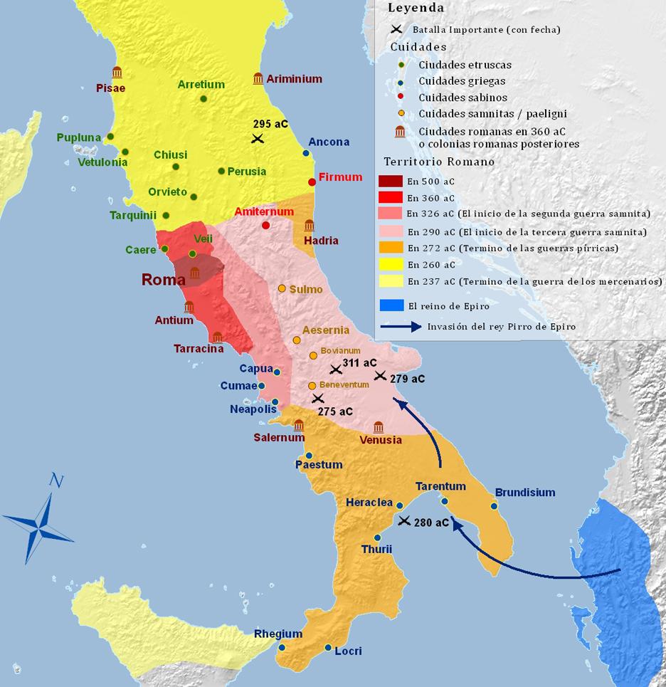 Mapa de Italia Historico