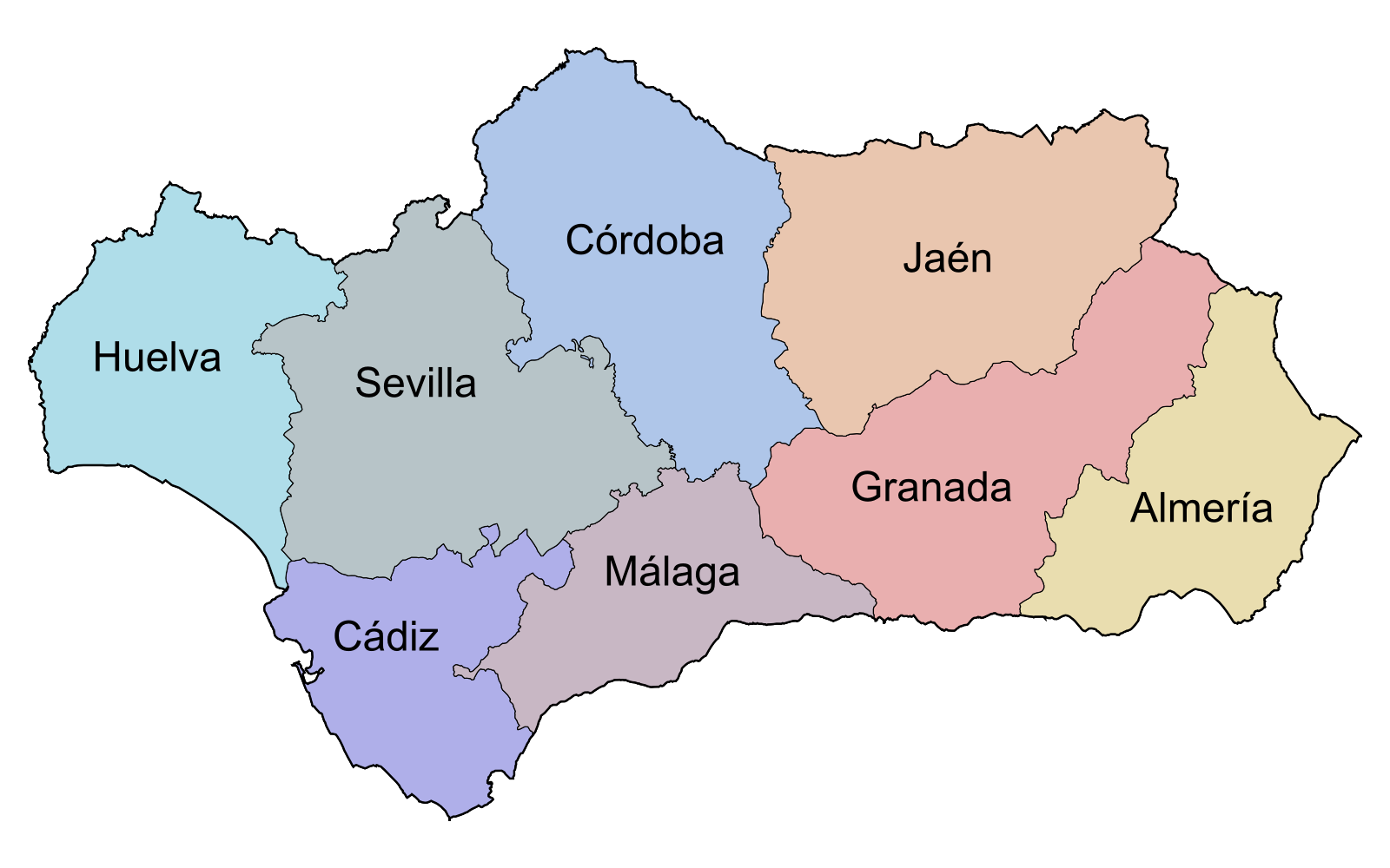 Mapa de andalucia