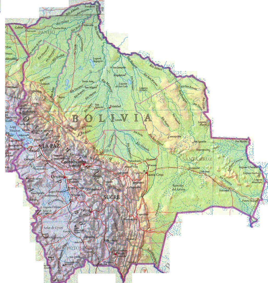 Mapa de bolivia tierra
