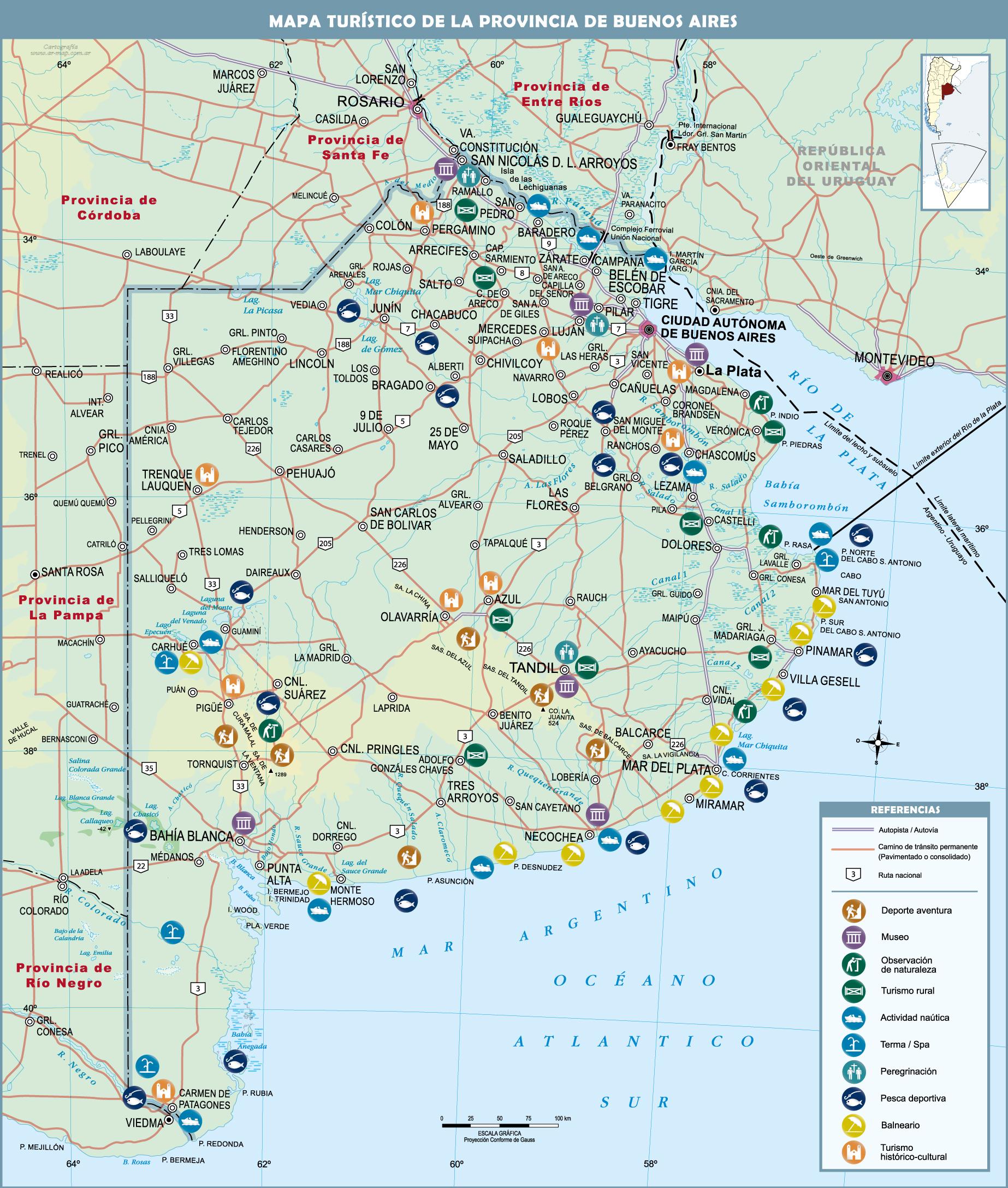 Mapa de buenos aires turistico