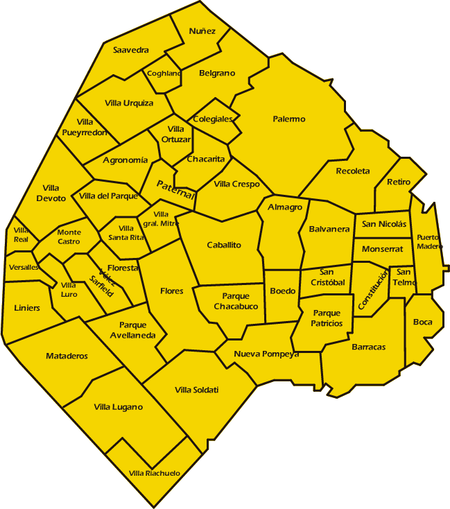 Mapa de capital villas