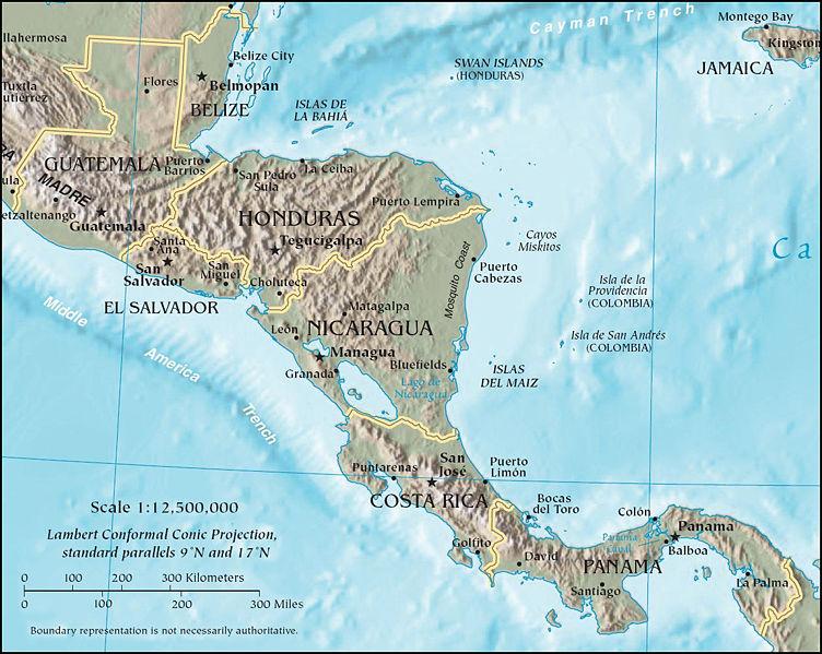 Mapa de centroamerica gratis para descargar