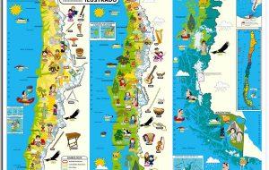 Mapa de chile ilustrado