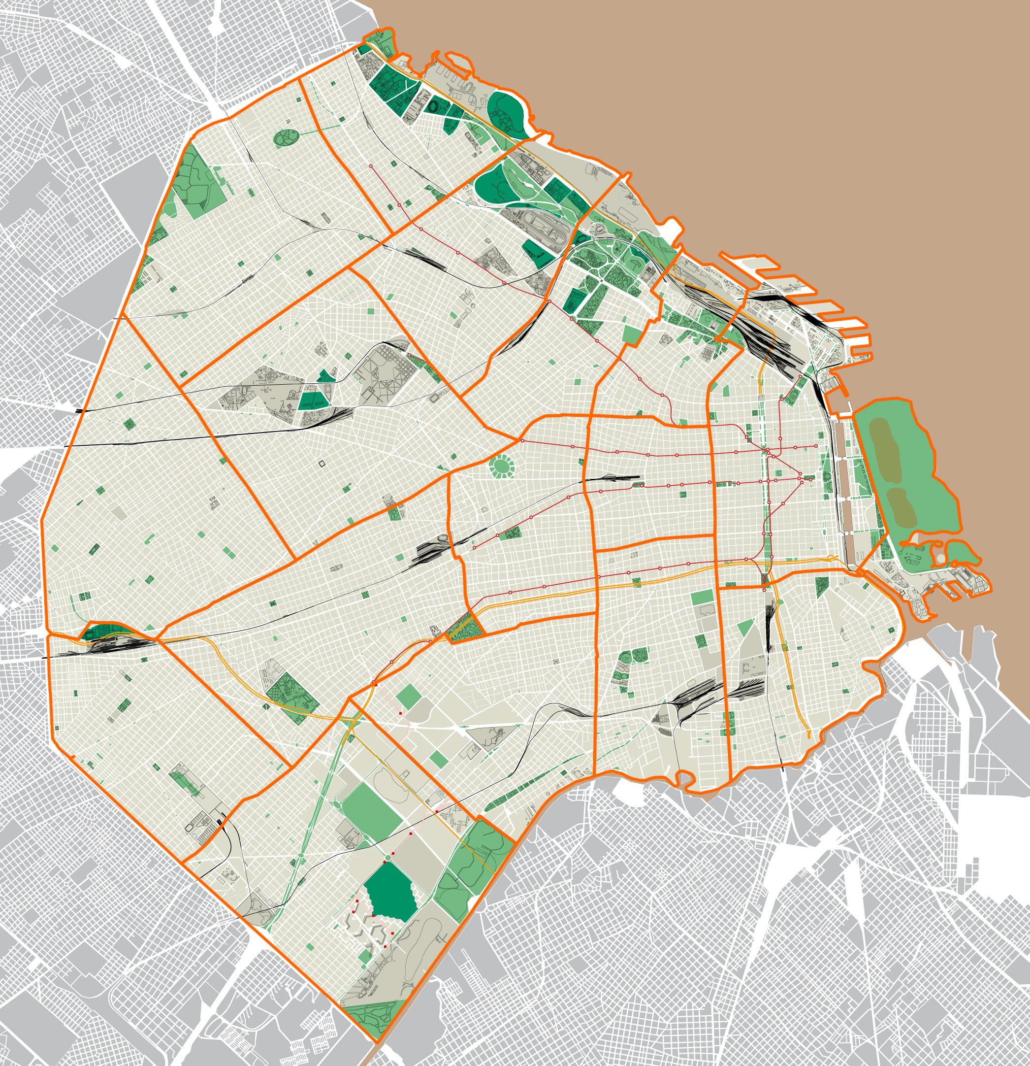 Mapa de ciudad de buenos aires