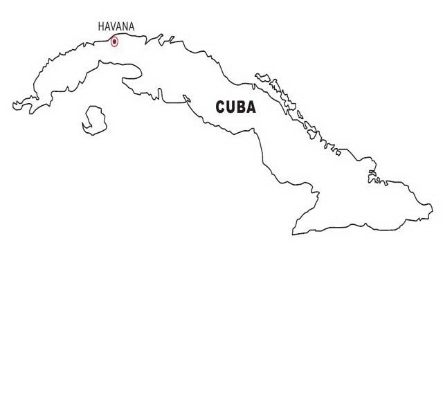 Mapa de cuba online