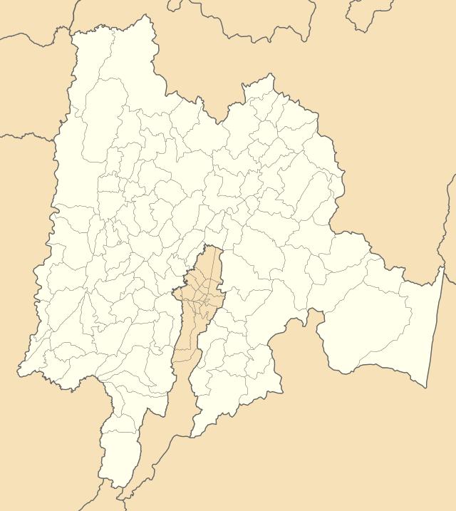 Mapa de cundinamarca