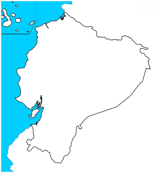 Mapa de ecuador blanco