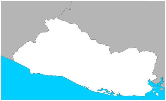 Mapa de el salvador sin color