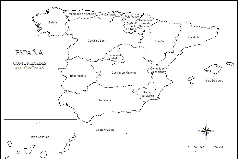 Mapa de españa online