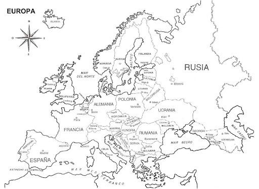 Mapa de europa rusia