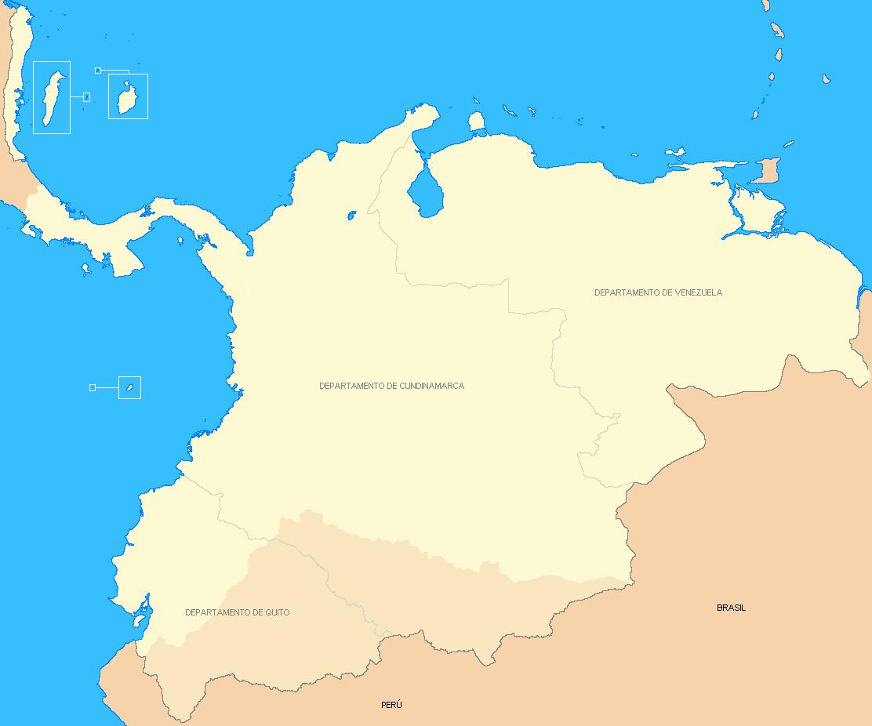 Mapa de gran colombia