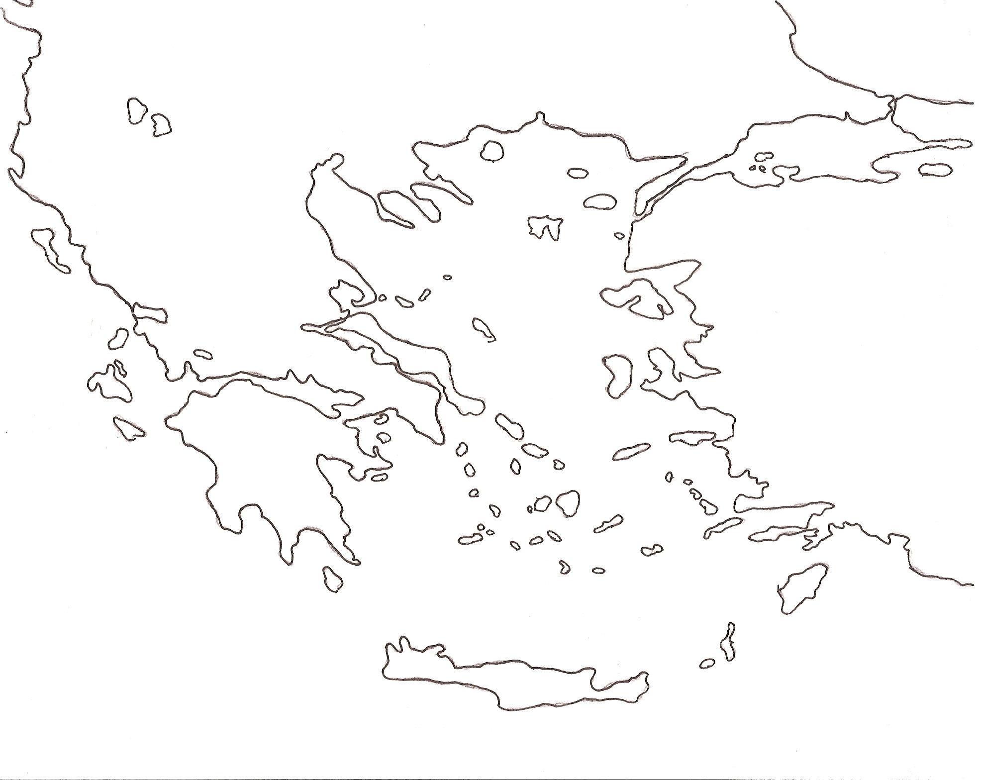 Mapa de grecia online