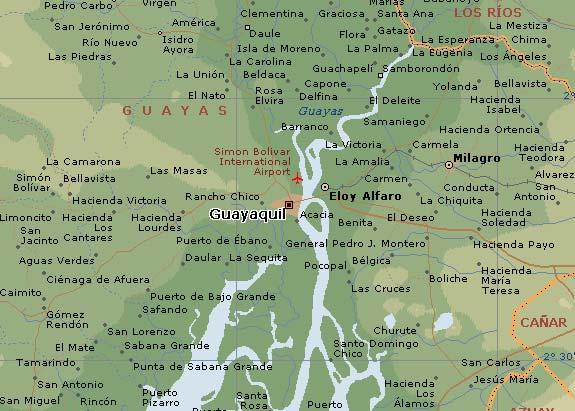 Mapa de guayaquil mapa