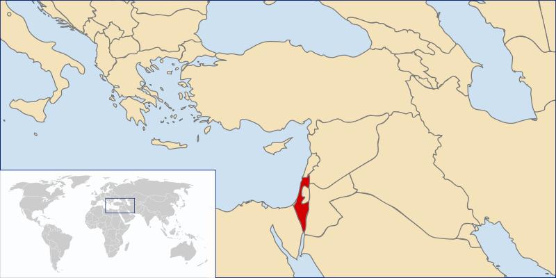 Mapa de israel online