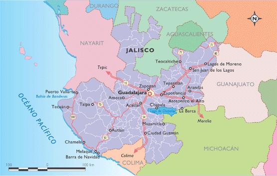 Mapa de jalisco online