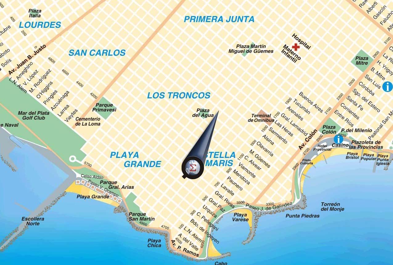 Mapa de mar del plata gratis