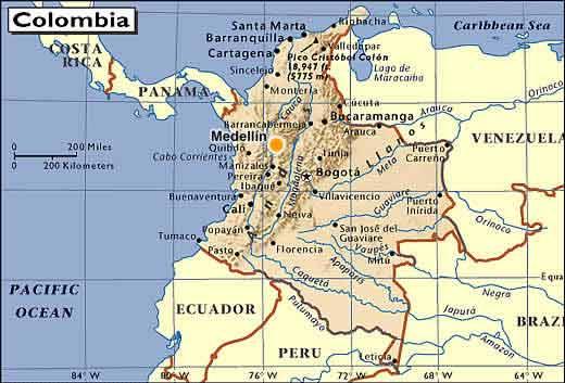 Mapa de medellin