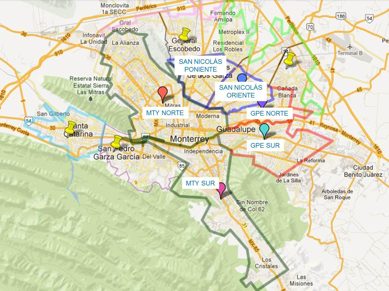 Mapa de monterrey Online