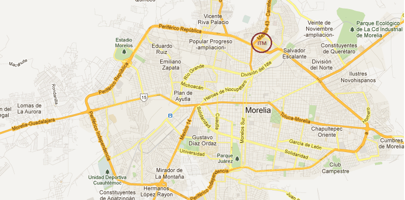 Mapa de morelia