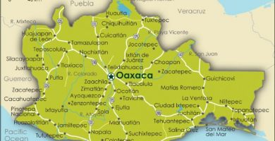 Mapa de oaxaca