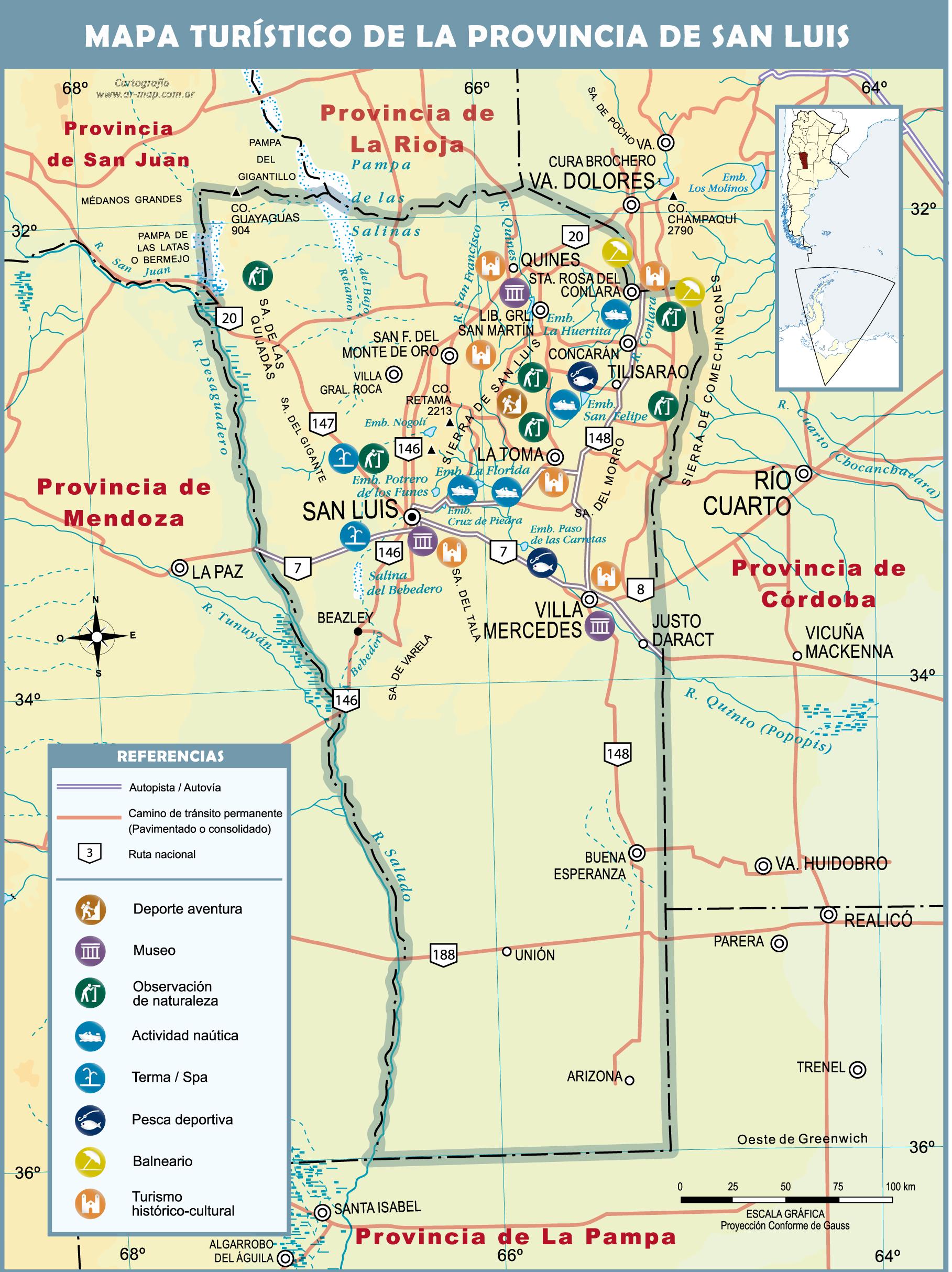 Mapa de san luis turistico