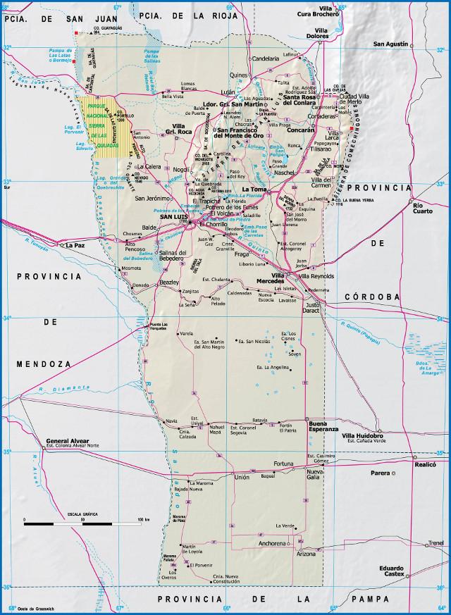 Mapa de san luis