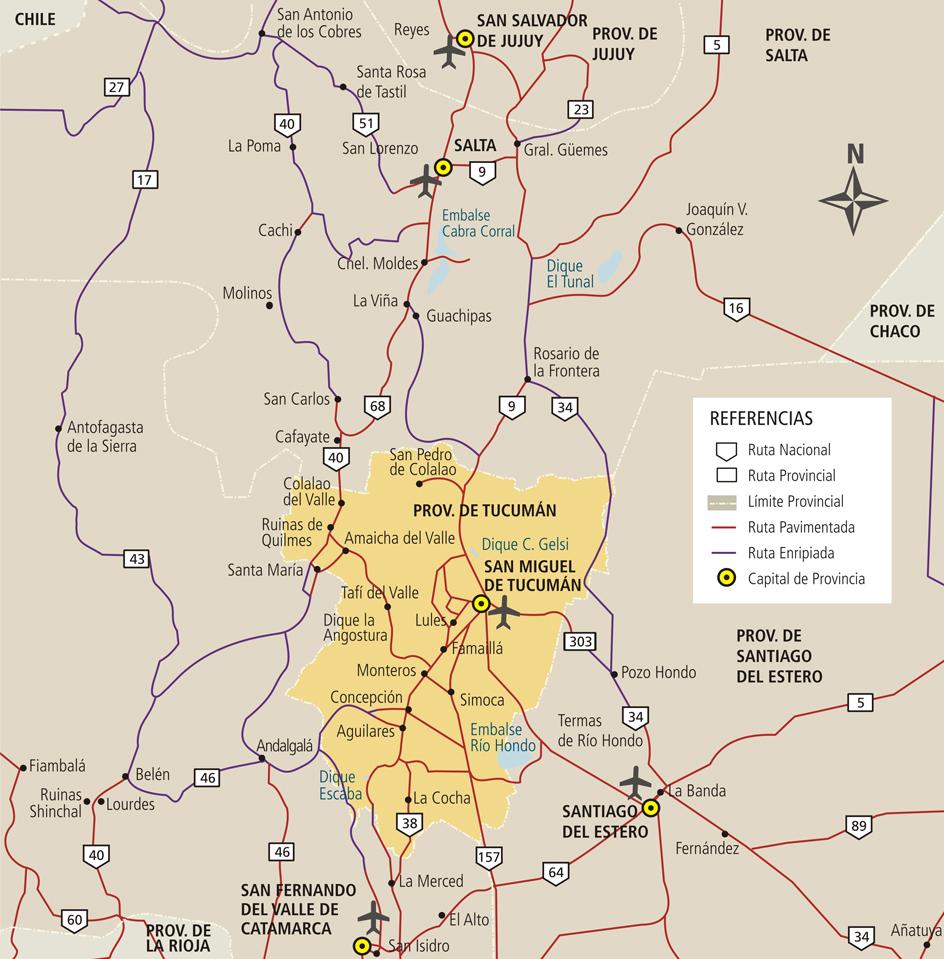Mapa de tucuman