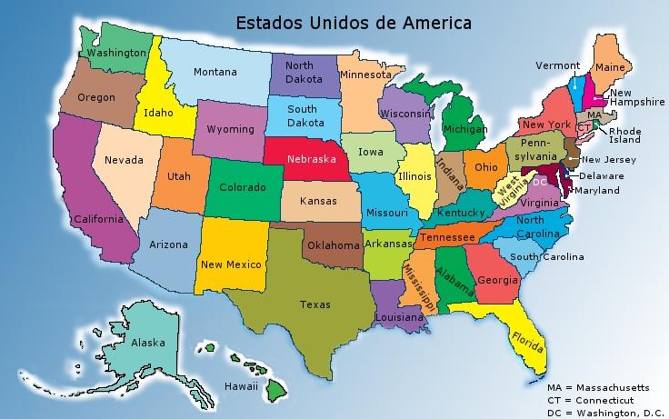 Miami Mapa Estados Unidos.El Gran Tour Formativo America Estados Unidos