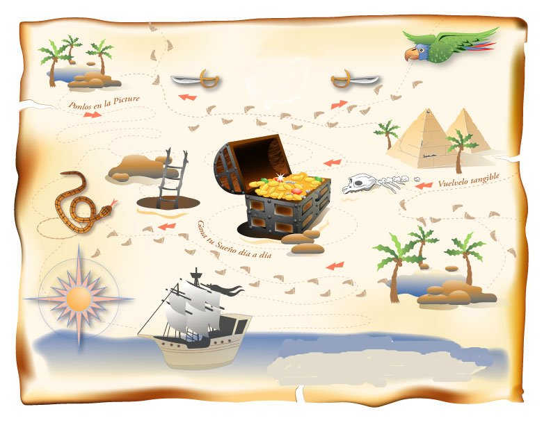 Mapa del tesoro for Casa con un camino