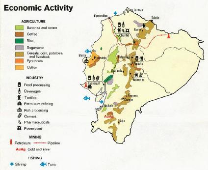 Mapa economico colombia