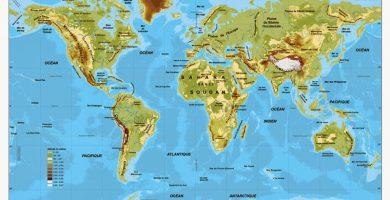 Mapa fisico mundo